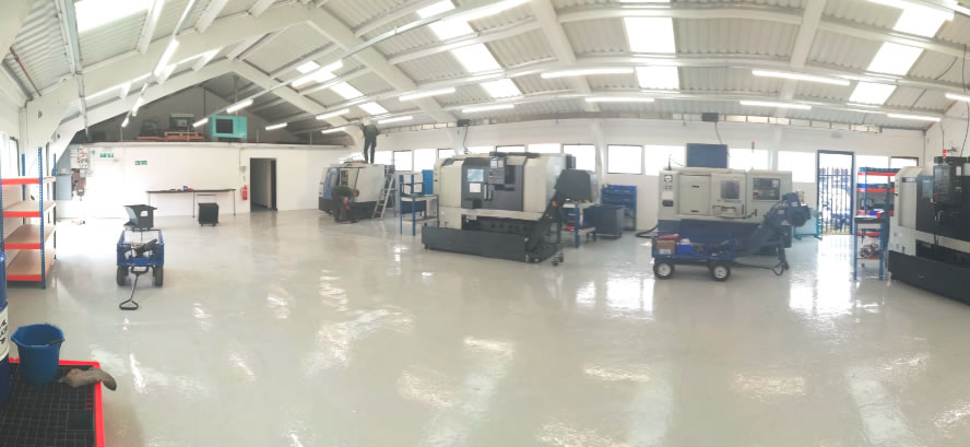 New machine shop finished August 2018