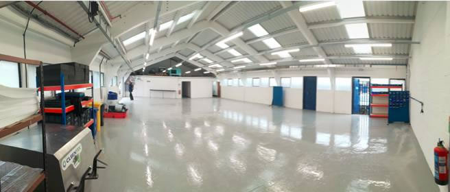 Unit 50: 4 and 5 axis's machining centre cell - New Ceiling, LED Lights and Epoxy resin floor